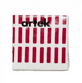 ペーパーナプキン artek (アルテック) SIENA シエナ L WH/RD 40×40cm 在庫限り北欧キッチン雑貨 ペーパーナプキン 内祝い ギフト プレゼント プチギフトにも人気