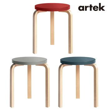 【予約販売】artek(アルテック)スツール椅子STOOL60キャリーアウェイスツール60ラッカー座面RDラッカ-/脚NT-F-FATFCH2800018