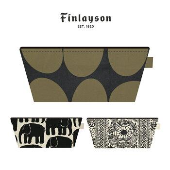 Finlayson(フィンレイソン)ボートポーチかまわぬELEFANTTIPOPTAIMI【ギフトにも人気Finlaysonフィンレイソン北欧ポーチ小物入れ化粧ポーチプレゼントにも人気】