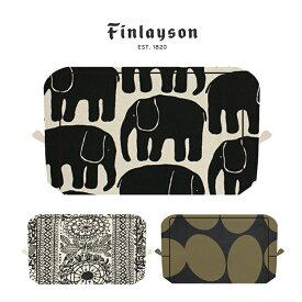 Finlayson(フィンレイソン) スクエアポーチ かまわぬ ELEFANTTI POP TAIMI 【ギフトにも人気 Finlayson フィンレイソン 北欧 ポーチ 小物入れ 化粧ポーチ プレゼントにも人気】 プレゼント