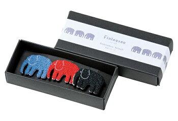 Finlayson(フィンレイソン)ブローチ刺繍アクセサリーエレファンティムートフィンランドデザインおしゃれテキスタイル