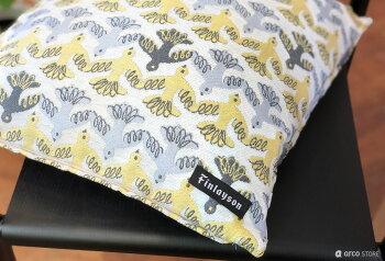 Finlayson(フィンレイソン)クッション/中材付きおしゃれな北欧デザインのクッションふわもこ感のゴブラン織北欧デザインのインテリアエレファンティアルマアヤトスタイミムートフィンランド45×45cmプレゼントギフトにも人気ピロー枕ヌードクッション付き