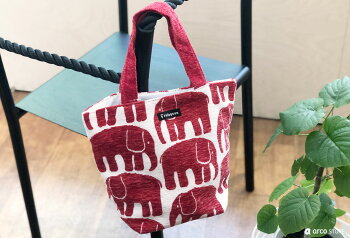 Finlayson(フィンレイソン)ミニバッグランチトートバッグ小さめサイズのトートバッグカバンゴブラン織り鞄おしゃれな北欧デザイン雑貨エレファンティアヤトスムートアルマフィンランドデザインはプレゼントギフトにも人気お弁当バッグにもぴったり