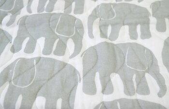 Finlayson(フィンレイソン)パッドシーツエレファンティブルー/グレーELEFANTTIおしゃれな北欧デザインの寝具シーツフィンランドのベッドコーディネート敷きパッドシーツ北欧テキスタイルプレゼントギフトにも人気さらっと爽やかなシーツゴム付き
