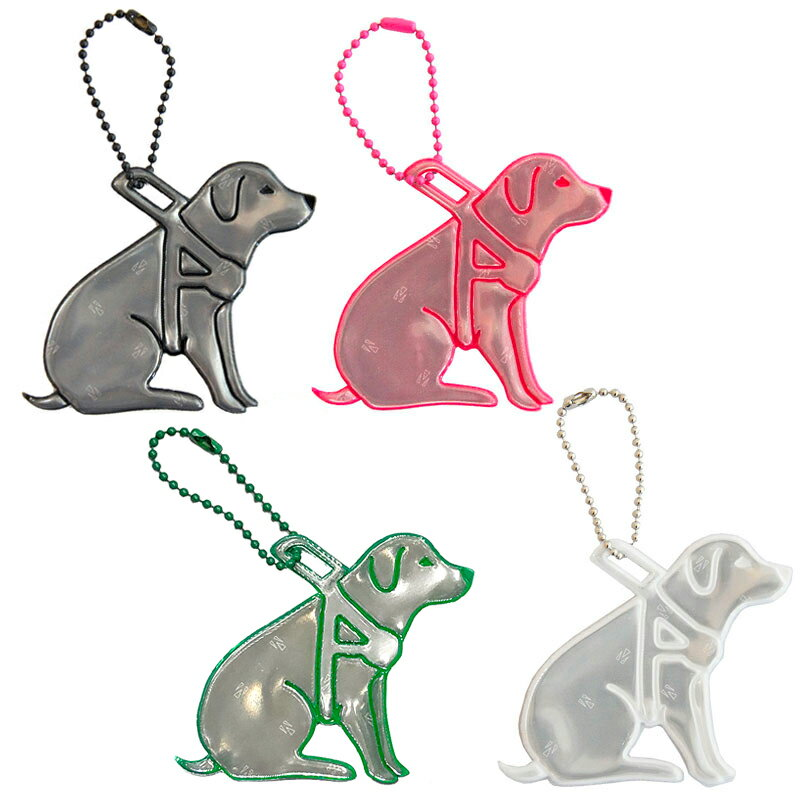 【Glimmis(グリミス)】 盲導犬(寄付金付き) 【送料無料(2コ以上メール便)】 プレゼント ギフトにも人気 / リフレクター 北欧の交通安全キーホルダー