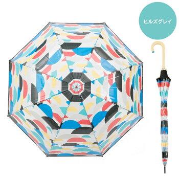 雨傘ビニール透明長傘korko(コルコデザイン)クリアアンブレラ北欧デザイン傘クリアアンブレラ雨傘デザインビニール傘SPCスカンジナビアンパターンおしゃれな北欧柄で雨の日も楽しいプレゼントギフトかわいいビニール傘