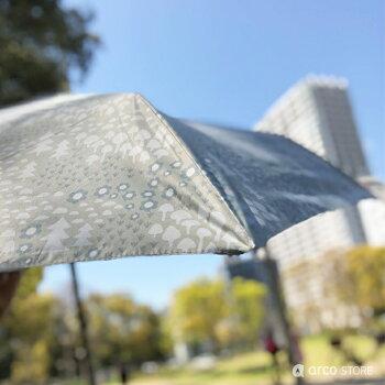 日傘/雨傘兼用折りたたみ傘軽量スリムライト北欧デザインkorko(コルコデザイン)UVカット遮光率99%以上UPF50+晴雨兼用スカンジナビアンパターン持ち運びコンパクト90gカバンに入れて木陰にいるような涼しさ