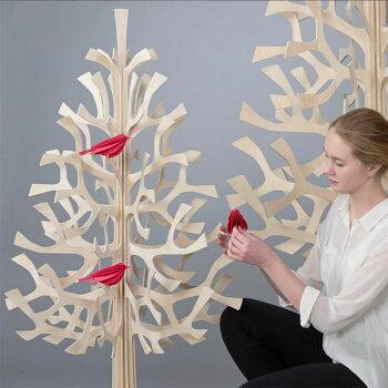 Lovi(ロヴィ)クリスマスツリーMomi-no-ki100cmもみの木北欧フィンランドおしゃれな北欧プライウッド白樺フィンランドインテリア置物プレゼントギフトに人気