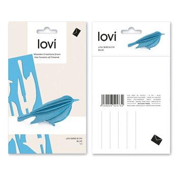 【10倍】Lovi(ロヴィ)バードS8cm(ブルー、ナチュラル、イエロー、グリーン、レッド6色)北欧オーナメントカード【メール便OKプレゼント】