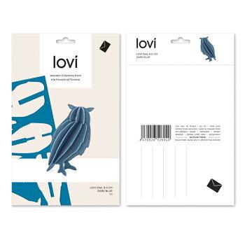 【10倍】Lovi(ロヴィ)フクロウ(ダークブルー、グレー、ナチュラル3色)/北欧オーナメントカード梟白樺【メール便OKプレゼント】
