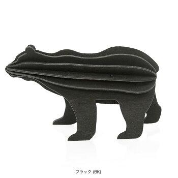 Lovi(ロヴィ)クマ(ブラック、グレー、ブラウン3色)/北欧オーナメントカード熊白樺【メール便OKプレゼント】