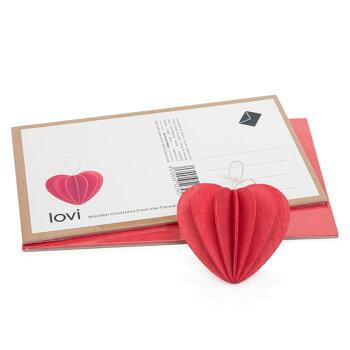 Lovi(ロヴィ)ハート6cm4色/北欧クリスマスツリー飾りオーナメント【メール便OKプレゼント】