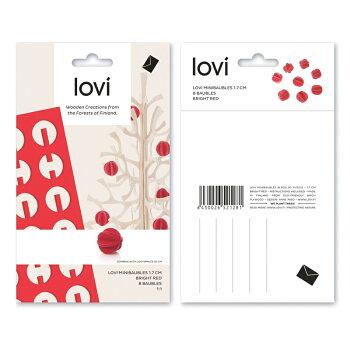 【10倍】Lovi(ロヴィ)ミニボール1.7cm8個入り3色/北欧クリスマスツリー飾りオーナメント【メール便OKプレゼント】
