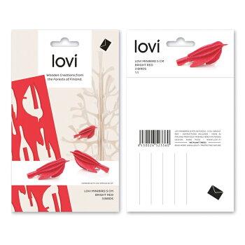 【10倍】Lovi(ロヴィ)ミニバード6色1シート3個入り/北欧オーナメントカード【メール便OKプレゼント】
