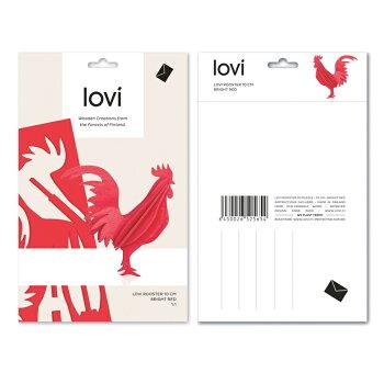 【10倍】Lovi(ロヴィ)オンドリ10cm(レッド、ブラック、イエロー4色)/北欧オーナメントカードニワトリ鶏鳥白樺【メール便OKプレゼント】