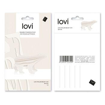 【10倍】Lovi(ロヴィ)ホッキョクグマ(小)7cm(ライトブルー、ホワイト2色)/北欧オーナメントカード白樺【メール便OKプレゼント】