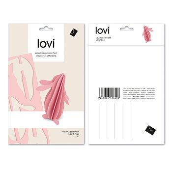 Lovi(ロヴィ)ラビット9cmうさぎ北欧オーナメントカード北欧ツリー飾りおしゃれな北欧プライウッド白樺フィンランドインテリア置物プレゼントギフトに人気