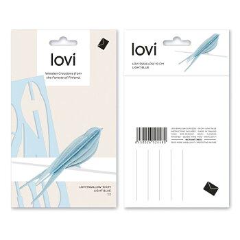 【10倍】Lovi(ロヴィ)スワローS10cm(ライトブルー、ブルー、ナチュラル、ライトピンク4色)/北欧オーナメントカード鳥白樺【メール便OKプレゼント】