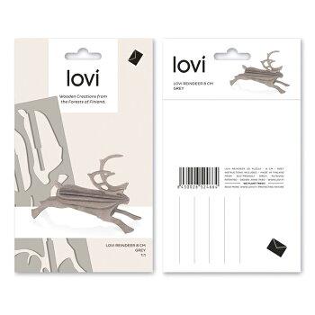 【10倍】Lovi(ロヴィ)トナカイS8cm3色北欧オーナメントカード【メール便OKプレゼント】