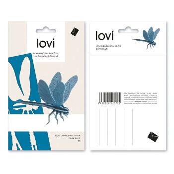 【10倍】Lovi(ロヴィ)トンボ10cm(ナチュラル、レッド、ビンク、グリーン、ブルー6色)/北欧オーナメントカードねこ白樺【メール便OKプレゼント】