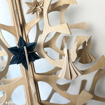 Lovi(ロヴィ)エンジェル天使9.5cm(M)北欧オーナメントカード北欧ツリー飾りおしゃれな北欧プライウッド白樺フィンランドインテリア置物プレゼントギフトに人気