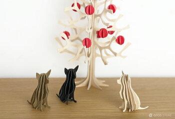 Lovi(ロヴィ)チワワ6cm北欧雑貨白樺オーナメントカード【メール便OKプレゼント・ギフト人気】ドッグDOG犬北欧白樺インテリア置物プレゼント