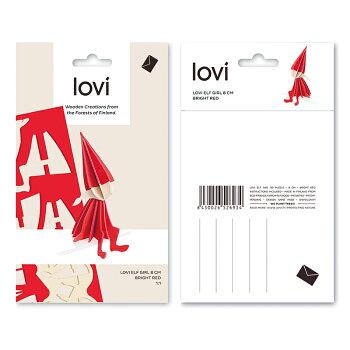 Lovi(ロヴィ)エルフガール16cm(L)北欧オーナメントカード北欧ツリー飾りおしゃれな北欧プライウッド白樺フィンランドインテリア置物プレゼントギフトに人気