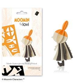 Lovi(ロヴィ)リトルミイ ムーミンカード 北欧 オーナメントカード 北欧ツリー飾り おしゃれな北欧プライウッド 白樺 フィンランドインテリア 置物 プレゼント ギフトに人気