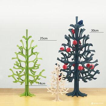Lovi(ロヴィ)クリスマスツリー30cmミニボール付北欧オーナメントカードおしゃれな北欧プライウッド白樺フィンランドインテリア置物プレゼントギフトに人気