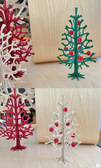 Lovi(ロヴィ)ミニボール1.7cm8個入り3色レッド/ナチュラル/ライトグリーンクリスマスツリー飾り北欧オーナメントカードおしゃれな北欧プライウッドlovi日本総代理店プレゼントギフト人気クリスマスデコレーション
