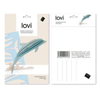 Lovi(ロヴィ)ドルフィンイルカいるかSeaLifeコレクション北欧オーナメントカードおしゃれな北欧プライウッド白樺フィンランドインテリア置物プレゼントギフトに人気