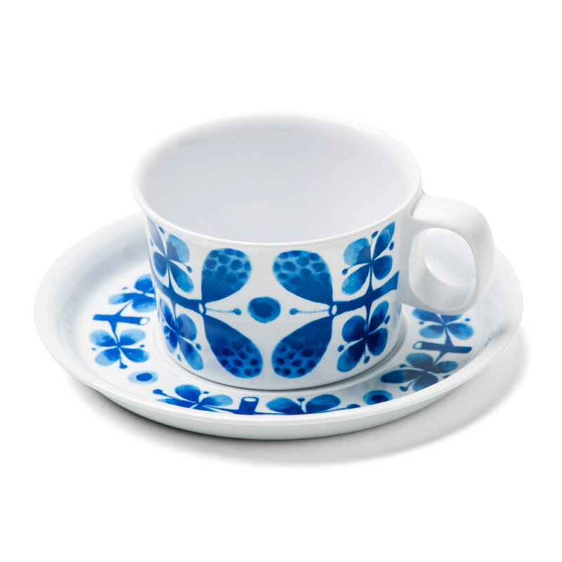 Opto design オプトデザイン スティグ リンドベリ BLUES カップ&ソーサー - 北欧 食器 グスタフスベリ復刻版 カップ カップ&ソーサー キッチン 雑貨 ティータイム メラミン食器プレゼント