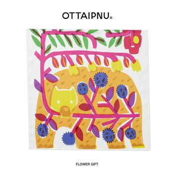 【メール便OK】OTTAIPNUオッタイピイヌ大判クロスハンカチ鈴木マサルデザインかわいい【ギフトやプレゼントにぴったり】どうぶつ動物