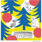 ハンカチムーミン(MOOMIN)カラフルな森【ムーミンハンカチ北欧てぬぐいタオルハンカチギフトプレゼントにも人気♪】