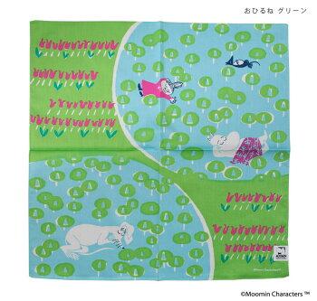 ハンカチムーミン(MOOMIN)おしゃれな北欧デザインQUARTERREPORT日本製クウォーターリポート鈴木マサルデザイナームーミンファミリープレゼントギフトお包みナプキン50×50cmおしゃれなムーミンの世界観がデザインされた