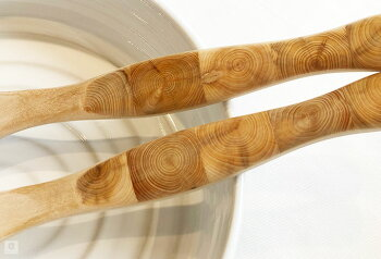【SALE10%OFF】サラダセットインレイSkandinaviskH(スカンジナヴィスク)フォーク&スプーンサラダトング木製カトラリーおしゃれな北欧キッチン雑貨スウェーデンデザイン手作りハンドメイドプレゼントギフト