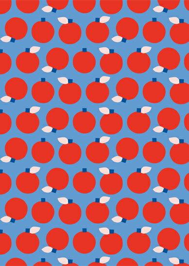 ポストカード 北欧 / SPC (17) ポストカード Anna Lindsten / Merry Berry 【北欧 ポストカード おしゃれ Scandinavian Pattern Collection スカンジナビアンパターン 】