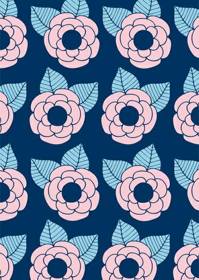 ポストカード 北欧 / SPC (29) ポストカード Johanna Hogvag / Vera【北欧 ポストカード おしゃれ Scandinavian Pattern Collection スカンジナビアンパターン 】