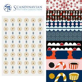 クリスマスカード 北欧デザイン ポストカード クリスマス おしゃれ キャンドル Scandinavian Pattern Collection スカンジナビアンパターン