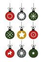 クリスマスカード 北欧 / SPC (16) Swedish Christmas Decoration / Linda Svensson Edevint【北欧 ポストカード クリスマス おしゃれ キャ