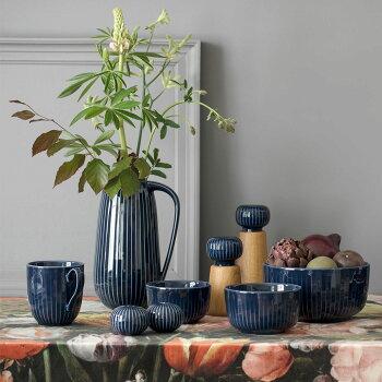 Kahler(ケーラー)マグカップハンマースホイHAMMERSHOIデンマーク陶器おしゃれな北欧雑貨ホワイトアンスラサイトインディゴハンドメイド食器優美なラインと気品あふれる美しいフォルムティーカップコップ