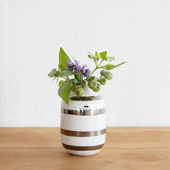 Kahler(ケーラー)花瓶フラワーベース(ミニサイズ)オマジオOMAGGIOデンマーク陶器ホワイトプレゼントおしゃれな北欧雑貨花びんインテリアボーダー