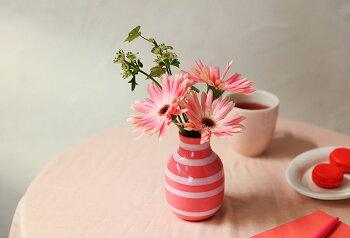 【Mother'sSet】期間限定Kahler(ケーラー)OMAGGIOチェリーピンクTeHandelセットオマジオチェリーピンクティーハンデルティーバッグ9個(3種×3個)フラワーベース(ミニサイズ)花瓶おしゃれな北欧雑貨
