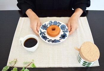 グスタフスベリGustavsbergプレート18cmレッドアスターブルーアスター北欧食器プレゼントスウェーデンの老舗陶器ブランドヴィンテージブランドスティグリンドベリStigLindberg