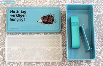LisaLarson(リサ・ラーソン)マイキー・ハリネズミランチボックス保冷弁当箱GELCOOLレッドブルー猫動物かわいい子供お弁当グッズ小学生