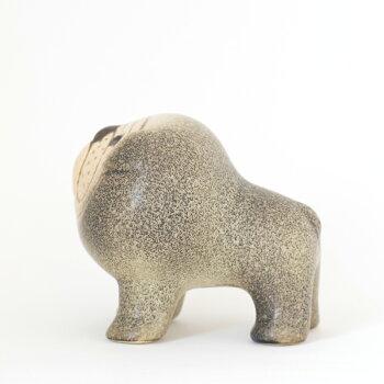【送料無料】LISALARSON(リサ・ラーソン)BulldogMiniGY/BRブルドッグミニグレー&ブラウン陶器置物動物かわいいインテリア北欧雑貨大人気