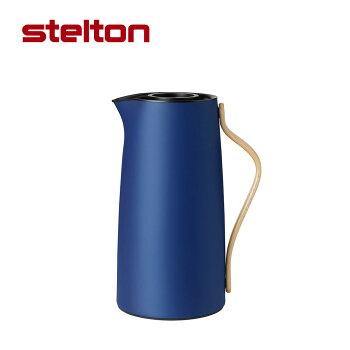newstelton(ステルトン)EM77バキュームジャグコーヒーメタリックDKBL保温保冷ポット魔法瓶二重構造のガラスボトル北欧デザインデンマークキッチン雑貨水筒ボトル