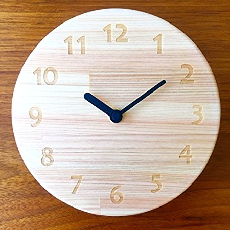 木遊舎 ひのき丸型時計 | ヒノキ 檜 掛け時計 無塗装 木製 アンティーク レトロ インテリア 工芸品 手作り 職人 シンプル 国産 日本製 人気 おすすめ おしゃれ かわいい ギフト お祝い プレゼント あす楽