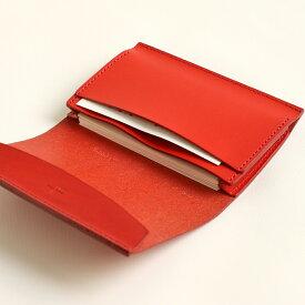 【クーポンあり】エムピウ m+ FERMA: MATI Buttero: red | 名刺入れ カードケース メンズ レディース イタリアンレザー 牛革 コンパクト スリム 人気 おすすめ おしゃれ かわいい ギフト お祝い プレゼント 日本製