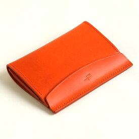 【クーポンあり】エムピウ m+ FERMA: MATI Buttero: orange | 名刺入れ カードケース メンズ レディース イタリアンレザー 牛革 コンパクト スリム 人気 おすすめ おしゃれ かわいい ギフト お祝い プレゼント 日本製